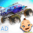Baby Monster Truck Ice Racing